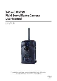 940 nm IR GSM Field Surveillance Camera User Manual