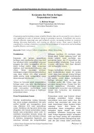 Kerjasama dan Sistem Jaringan Perpustakaan Umum - USU Library ...