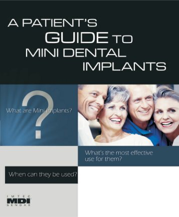 Patient's Guide to Mini Dental Implants - TEAM15.ch