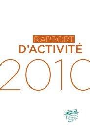 Rapport d'activité 2010 Inpes