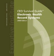 CEO Survival Guide - AHRQ National Resource Center; Health ...