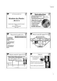 résultats plasties LCA