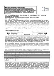 DWS Frankfurt KID Vorsorge Dachfonds Balance plus - AVL ...