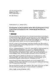og økonomiaftale mellem Palm City Properties AS og Frederikshavn ...