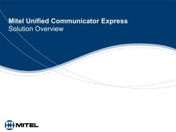 UC Express Customer Presentation 23rd April09 - Ash Telecom