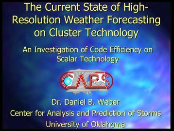 The Current State of Numerical Weather Prediction on Cluster ...