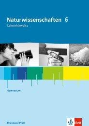 Hinweise Naturwissenschaften 6 RPF (PDF ... - Ernst Klett Verlag