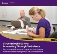 Structuring Decisions - Department of Agricultural Economics ...