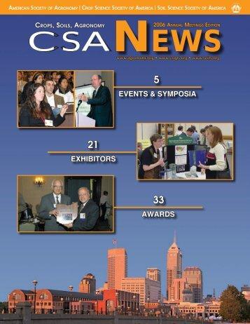 2006 Annual Meetings Edition_CSA News.indd