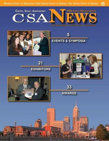 2006 Annual Meetings Edition_CSA News.indd
