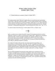 Primjer analize procjene rizika (primjer rijeke Vrbas)