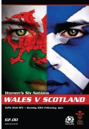 WALES V SCOTLAND - Welsh Rugby Union