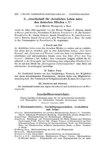Anschriftenverzeichnis. - Springer