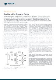 Technical Note Dual Amplifier Dynamic Range