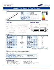 datasheet samsung led tube.pdf - LEDS.de