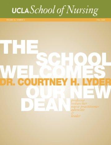 DR. COURTNEY H. LYDER - UCLA School of Nursing