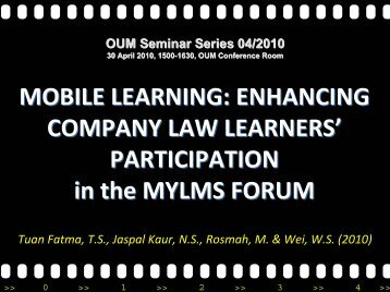 MOBILE LEARNING: ENHANCING COMPANY LAW LEARNERS ...