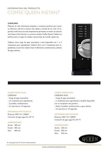 COFFEE QUEEN INSTANT - Crem International