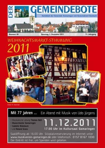Ausgabe :Gomaringen 03.12.11.pdf - Gomaringer Verlag