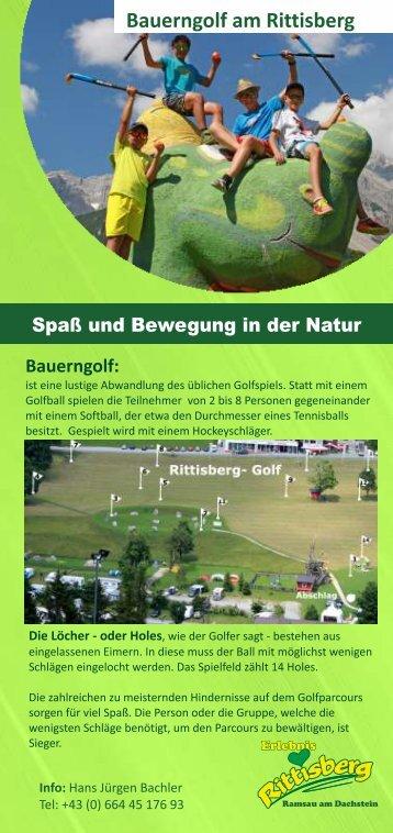 Rittisberg Bauergolf als PDF