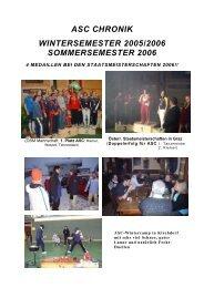 Chronik 2005/06 - Fechten an der USI und im ASC Wien