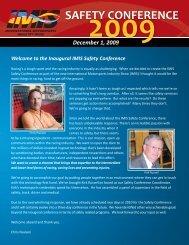 SAFETY CONFERENCE - Motorsport Industry Association