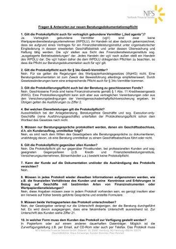 Fragen & Antworten zur neuen Beratungsdokumentationspflicht