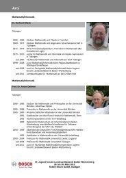 47. Jugend forscht Landeswettbewerb Baden ... - Bosch-Career