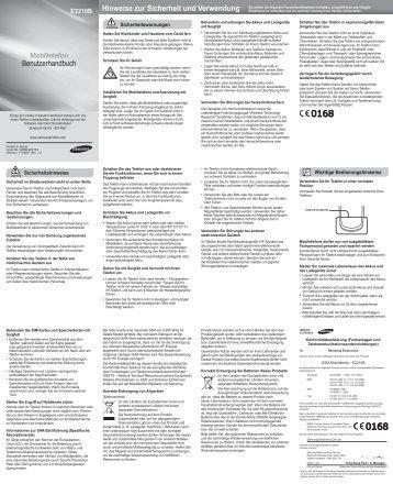 Benutzerhandbuch Hinweise zur Sicherheit und ... - Fonmarkt.de