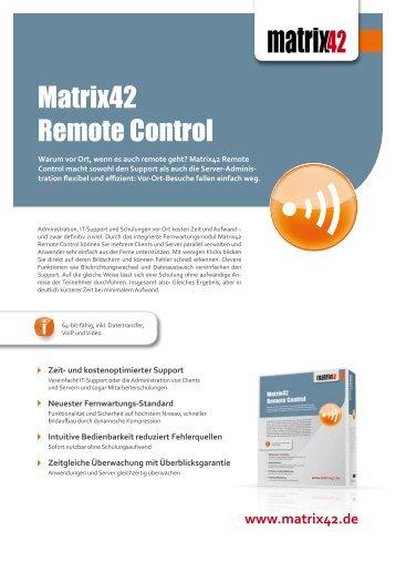 Matrix42 Remote Control - Belsoft AG