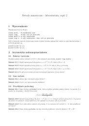 Metody numeryczne - laboratorium, część 2
