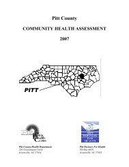 Pitt County Community Health Assessment Survey 2007