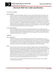 DEI Dodge Engineering & Controls Inc. - Online Catalog - Ball Valves