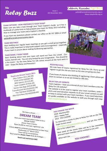 Relay Buzz - Relay for Life
