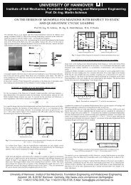 On the design of monopile foundations with respect to static and ...