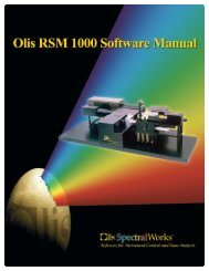 RSM Software Manual.qxd - Olis, Inc.