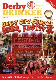JOIN US! Wednesday 11th to Sunday 15th July - Derby CAMRA