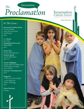 Proclamat!on Incarnation - Incarnation Catholic School