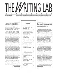 23.1 - The Writing Lab Newsletter