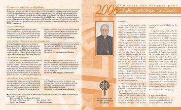 Version intégrale du dépliant pour la Collecte 2006