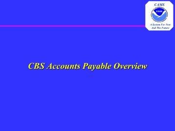 Accounts Payable Overview - NOAA
