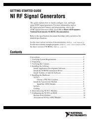 NI RF Signal Generators Getting Started Guide