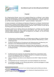 Geschäftsordnung für den Beirat Bürgerhaushalt Münster