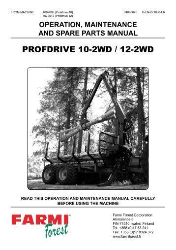 PROFDRIVE 10-2WD / 12-2WD - Farmi Forest