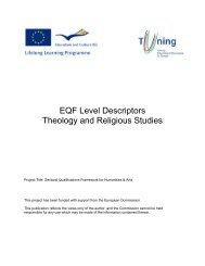 EQF Level Descriptors Theology and Religious Studies