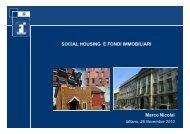Social Housing e Fondi immobiliari - Agenda Digitale Lombarda ...