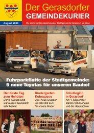 Gemeindekurier 9/2008 - Gerasdorf
