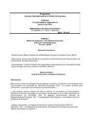 Le programme (pdf) - Organisation internationale de la Francophonie
