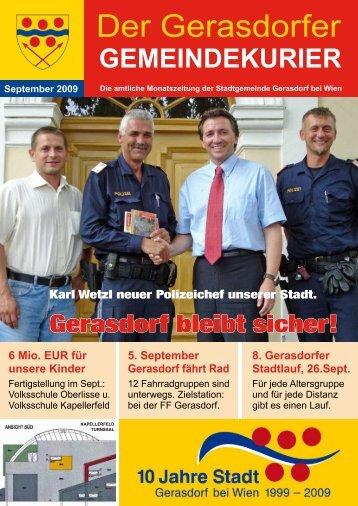 Gemeindekurier September 2009 - Gerasdorf