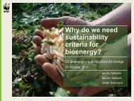 Why do we need sustainability criteria for bioenergy? - Bioenergi - DI